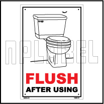 Flush after using
